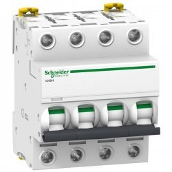 Автоматичний вимикач 0,5A 10kA 4 полюса тип D A9F85470 Acti9 iC60H Schneider Electric