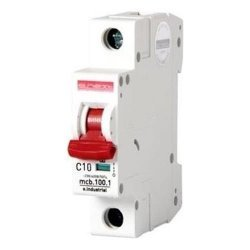 Автоматичний вимикач 10A 10kA 1 полюс тип C e.industrial.mcb.100.1.C10 i0180002 E.NEXT