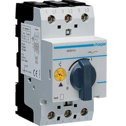 Автомат для захисту двигуна 0,16-0,24А 16kA MM502N Hager